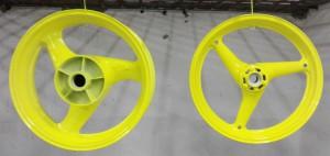 Покраска мото дисков RAL1016