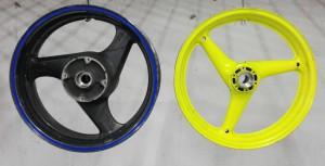 Покраска мото дисков